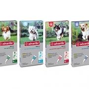 Advantix ® Spot On per cani oltre 10 Kg fino a 25 Kg – 4 pipette da 2.5 ml – Antiparassitario per Zecche Pulci e Pidocchi
