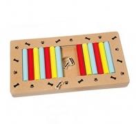 Gioco interattivo barrette scorrevoli – Istruttivo e colorato, per cani, realizzato in legno